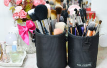 How to clean makeup brushes - spot cleaning - deep clean - Genzel Kisses (c)